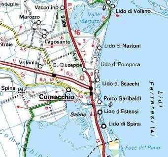 Storia di Comacchio, Porto Garibaldi, Sette Lidi ed entroterra