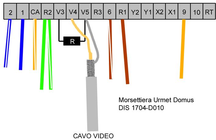 schema videocitofono urmet domus 1704 fare di una mosca