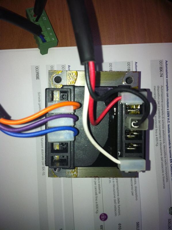 Schema Elettrico Zbx : Grix forum alimentazione cancello elettrico su elettronica